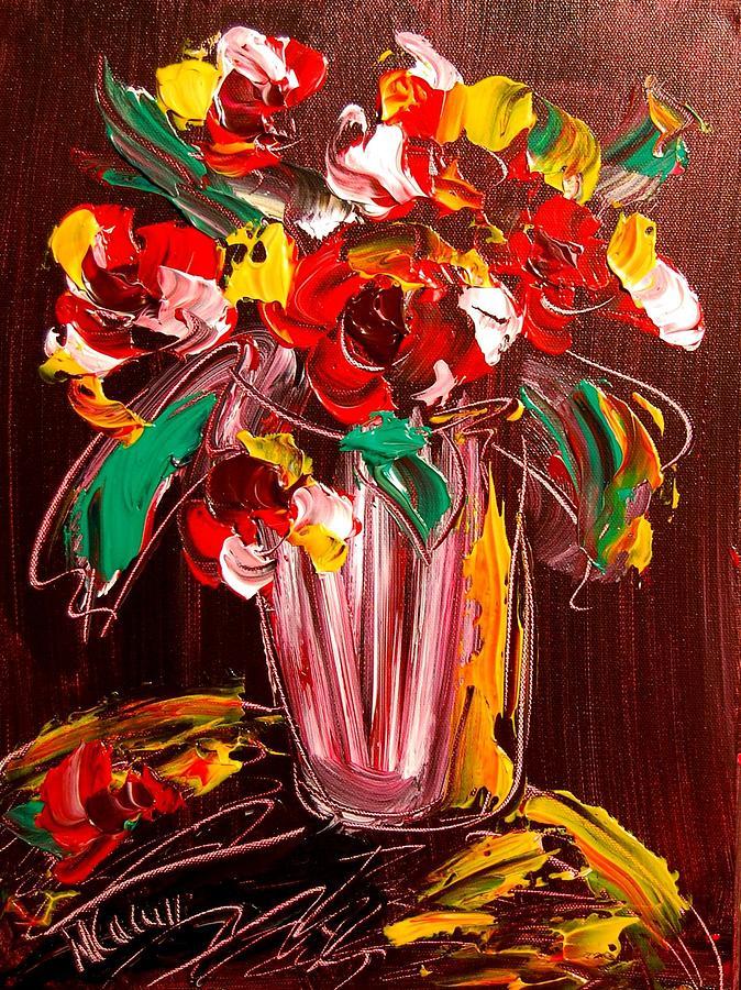 Surreal Framed Prints Painting - Flowers by Mark Kazav