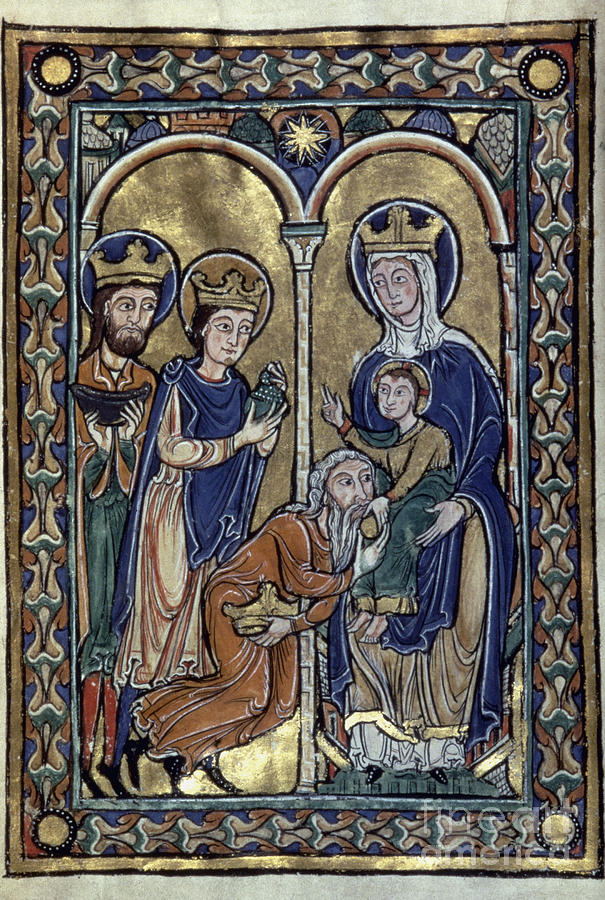 12th Century Photograph - Adoration Of Magi by Granger