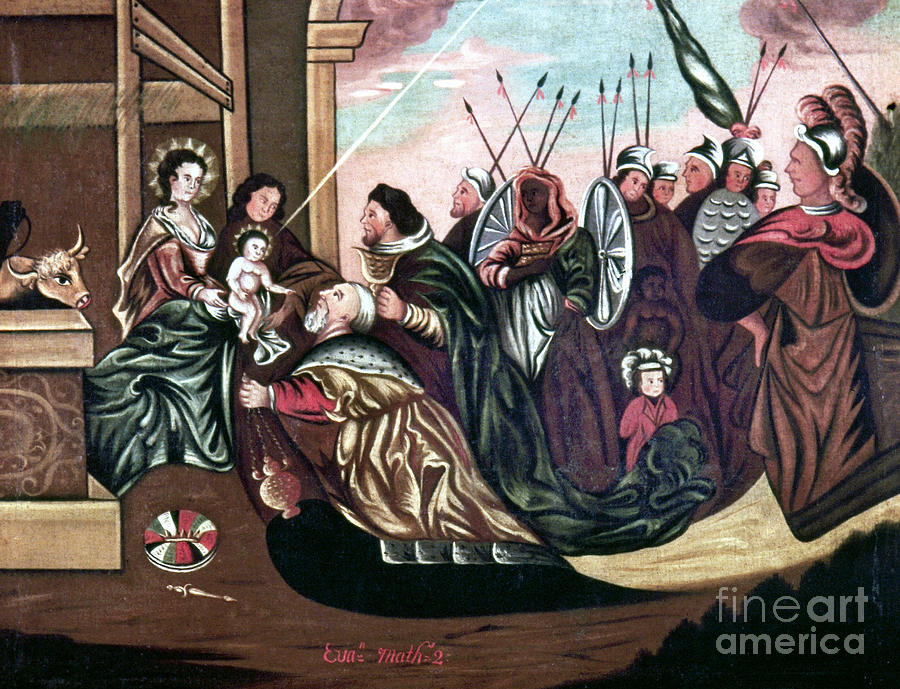 18th Century Photograph - Adoration Of The Magi by Granger
