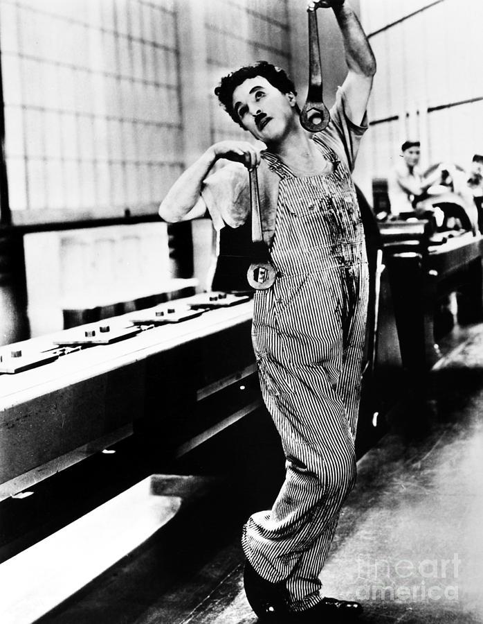 1936 Photograph - Chaplin: Modern Times, 1936 by Granger