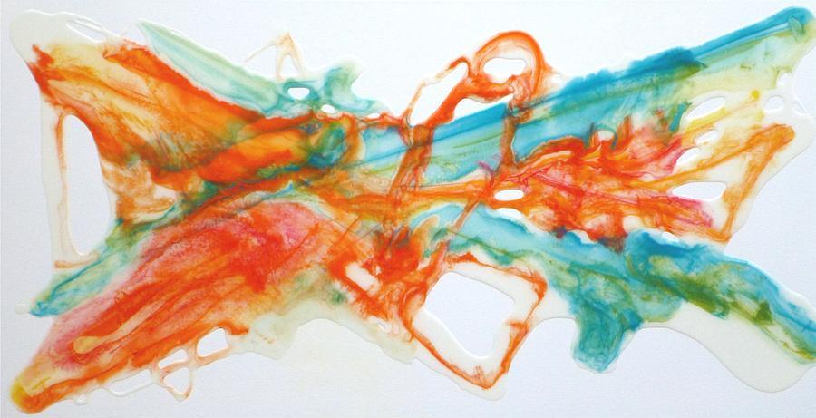 Epoxy Painting Canvas : Epoxy resin art painting by tara baden