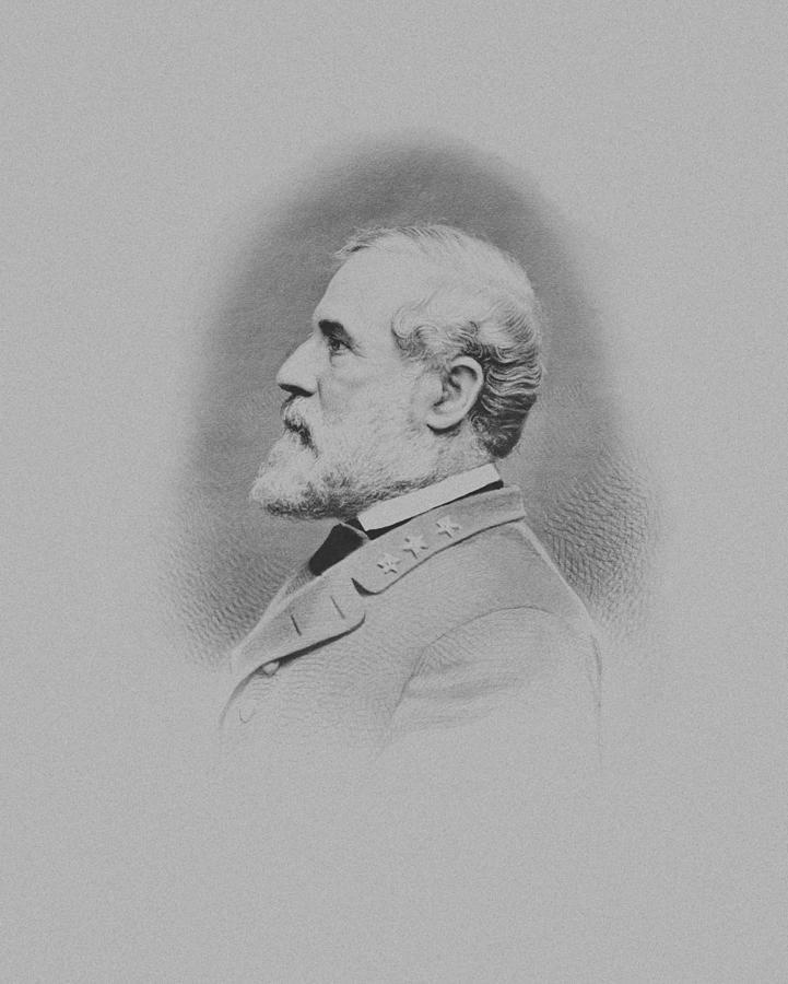 General Lee Drawing - General Robert E Lee by War Is Hell Store
