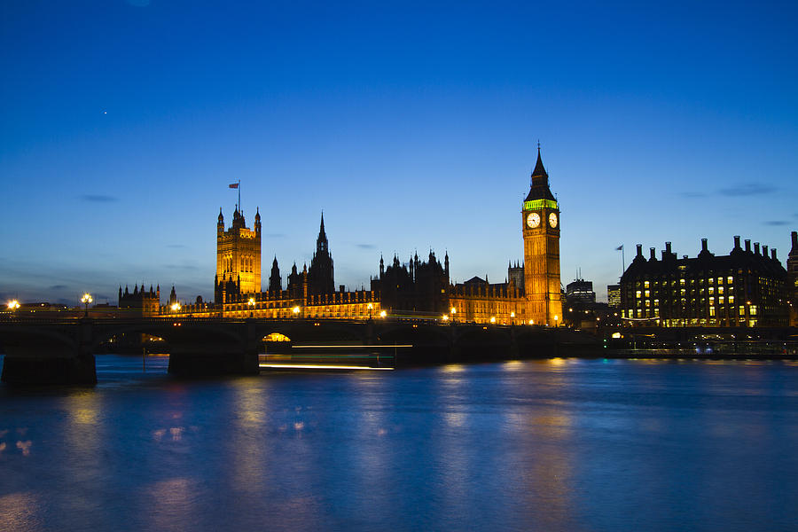 Edf Eye London Eye City Hall On The Sounthbank Of The Thames London's Tourist Attractions Photograph - London  Skyline Big Ben by David French