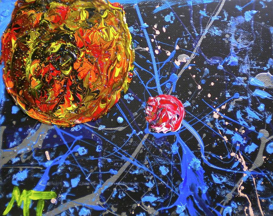 Midnight Transit Planet Painting