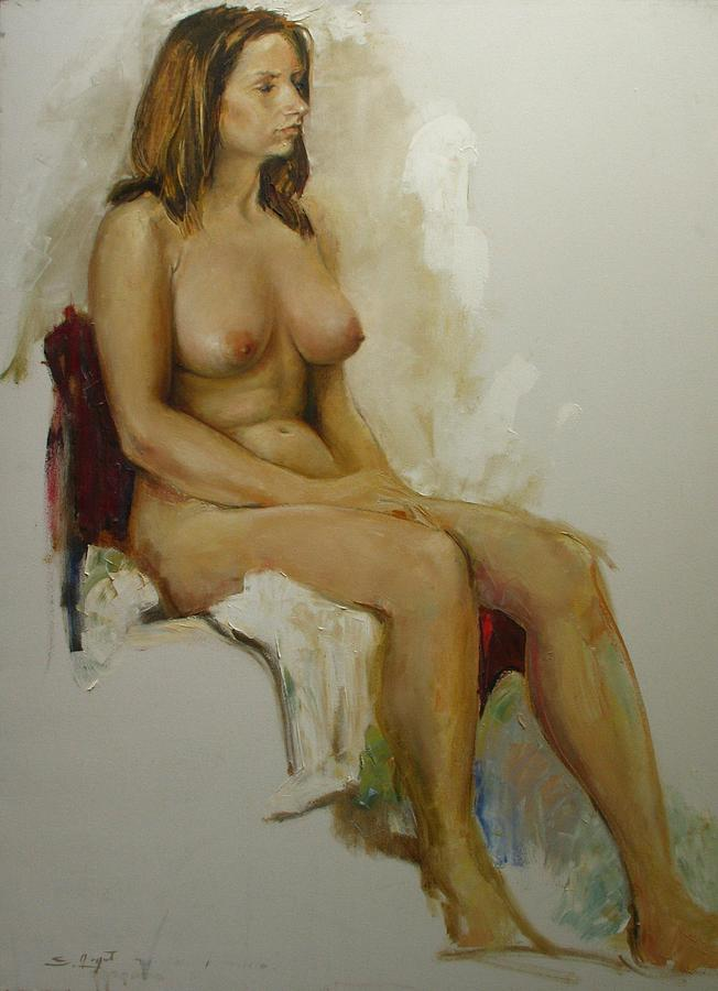 Model Study Painting - Model Study by Tigran Ghulyan