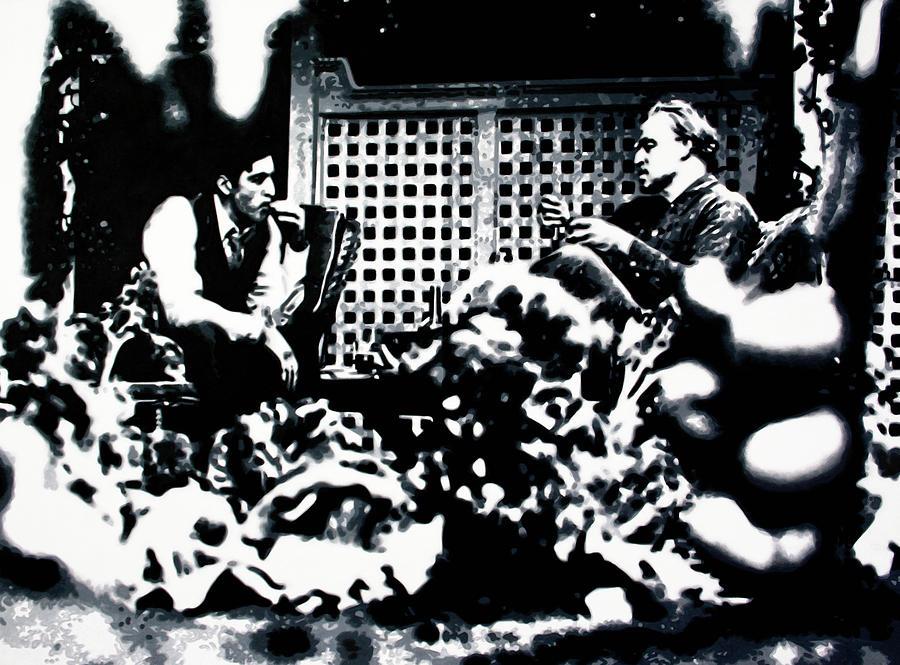 Ludzska Painting - The Godfather by Luis Ludzska