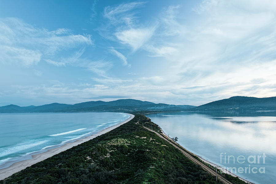 View Of Bruny Island Beach In The Afternoon. Photograph