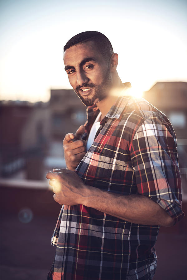 Good looking arab man