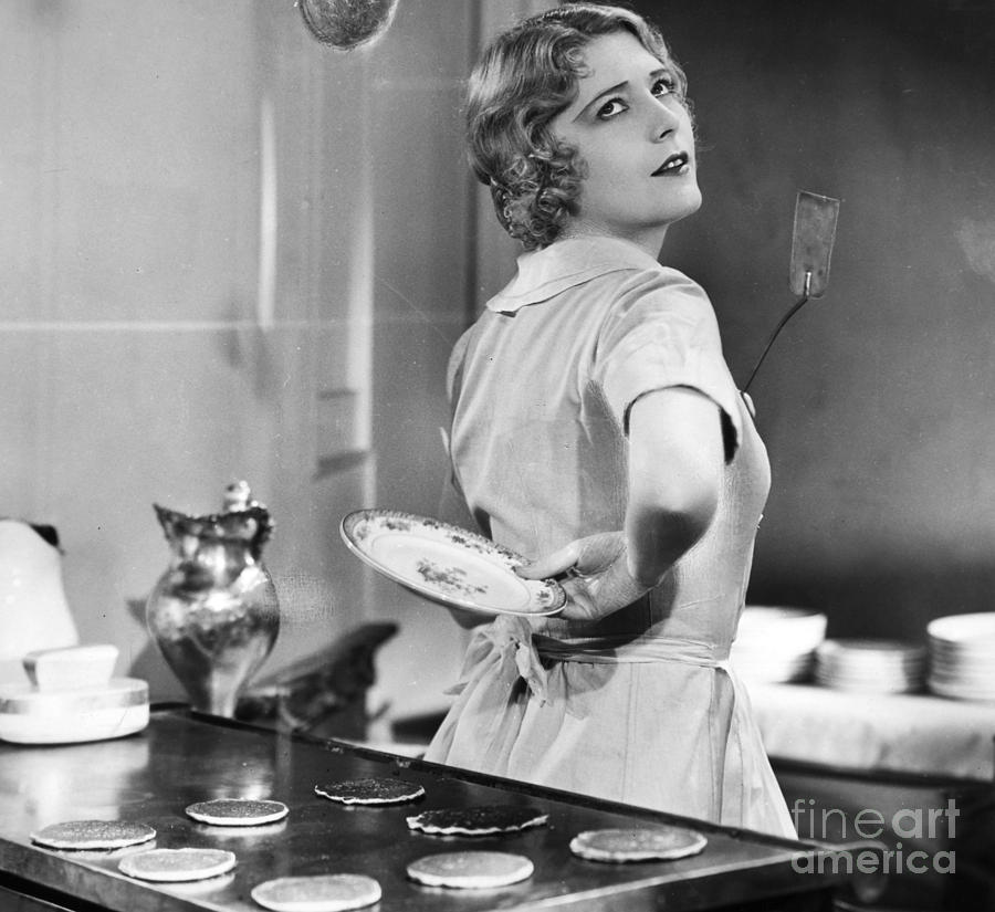 -housework & Cooking- Photograph - Silent Film Still by Granger