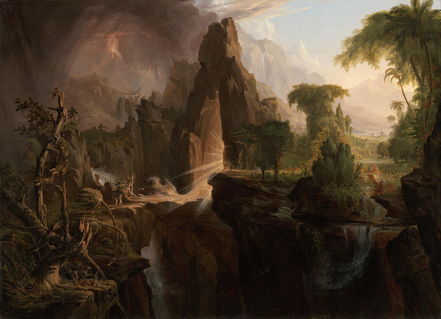 Expulsion From The Garden Of Eden Painting