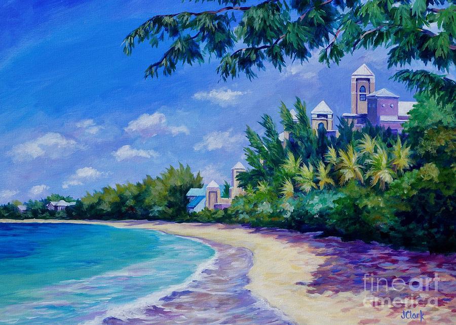 7 Mile Beach And Ritz Carlton 5x7 Painting