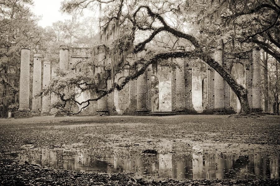Old Sheldon Church Ruins Photograph