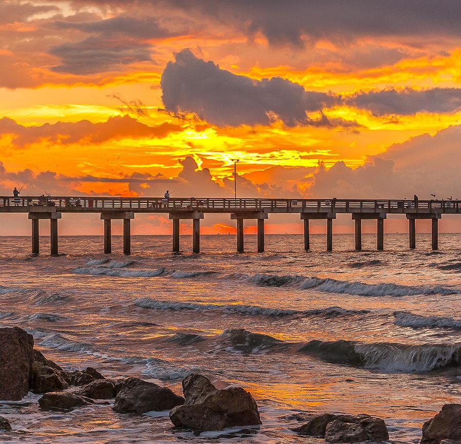 Galveston fishing pier by donnie hays for Galveston pier fishing