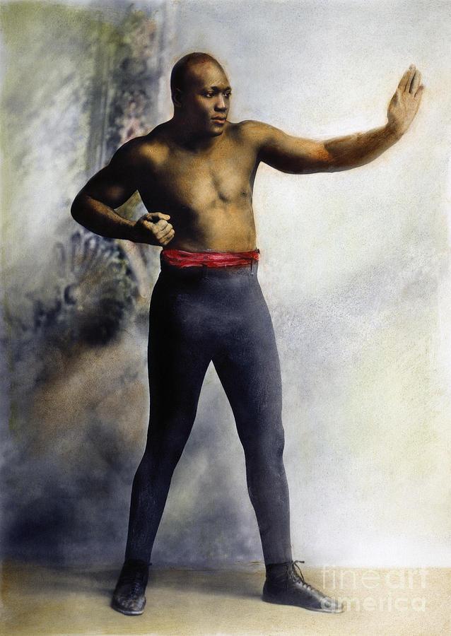 1909 Photograph - Jack Johnson (1878-1946) by Granger