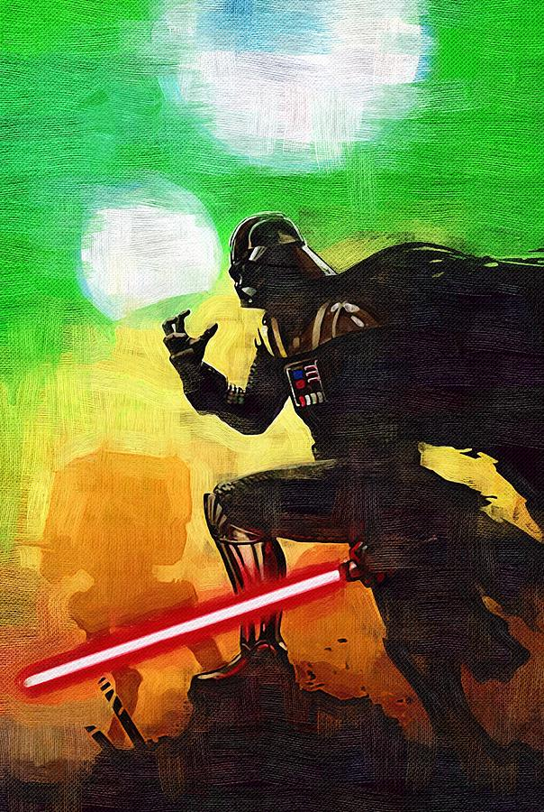 Movie star wars art is a piece of digital artwork by star wars which