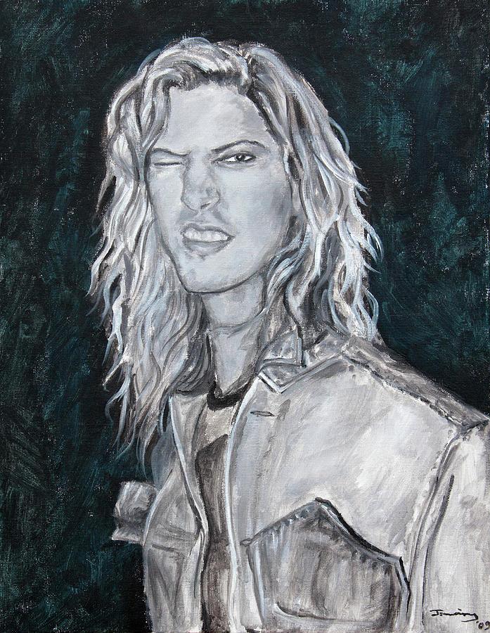 80's Painting - 80s Rock by Viktoria Tormassy