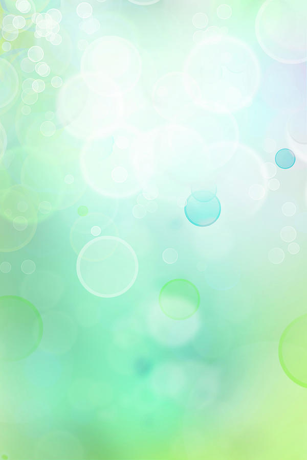 Green Digital Art - Abstract Background by Les Cunliffe