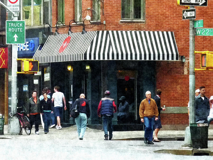 City Photograph - 8th Ave. And W 22nd Street Chelsea by Susan Savad