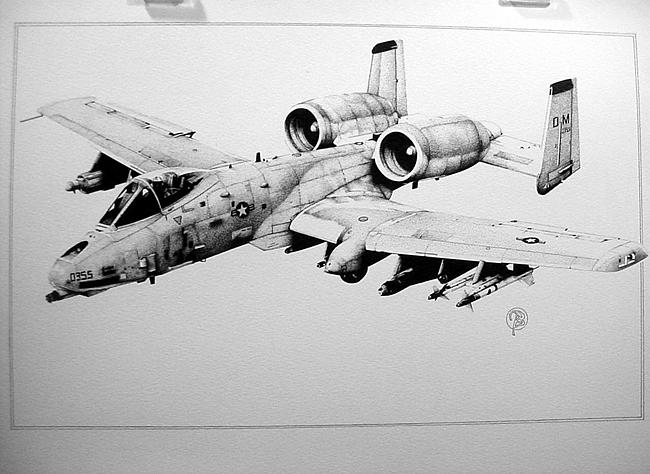 A 10 Thunderbolt Drawing A-10 Warthog Drawing b...