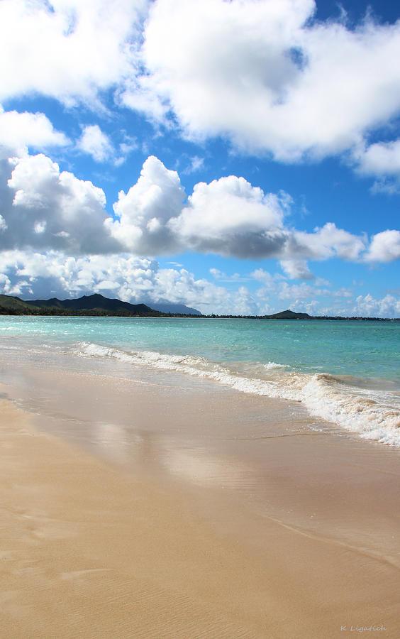 Blue Sky Photograph - A Beautiful Day At Kailua Beach Hawaii by Kerri Ligatich