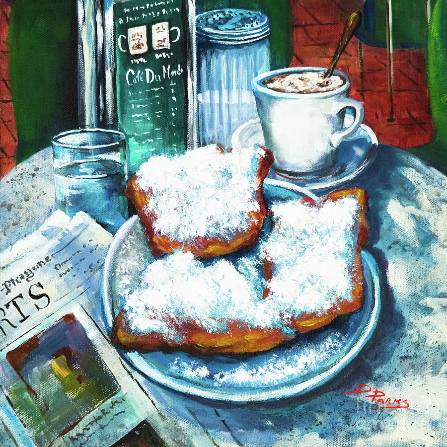 A beignet morning painting by dianne parks for Art du monde