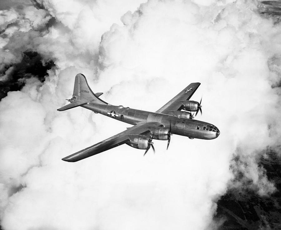 1940s Candid Photograph - A Boeing B-29 Superfortress, Circa 1944 by Everett