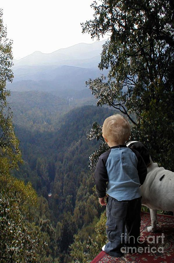 Boy Photograph - A Boy And His Dog by Robert Meanor