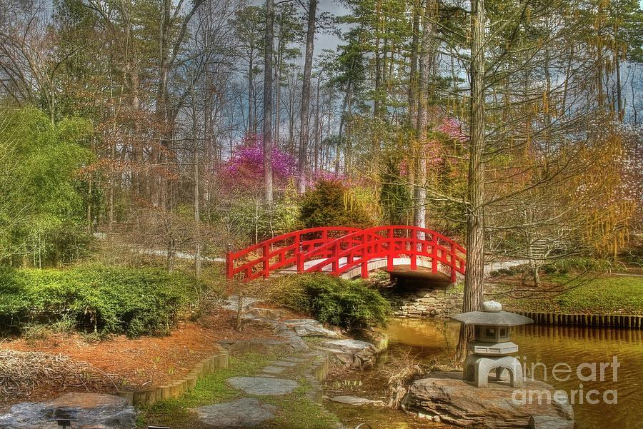 Sarah P. Duke Gardens Photograph - A Bridge To Spring by Benanne Stiens
