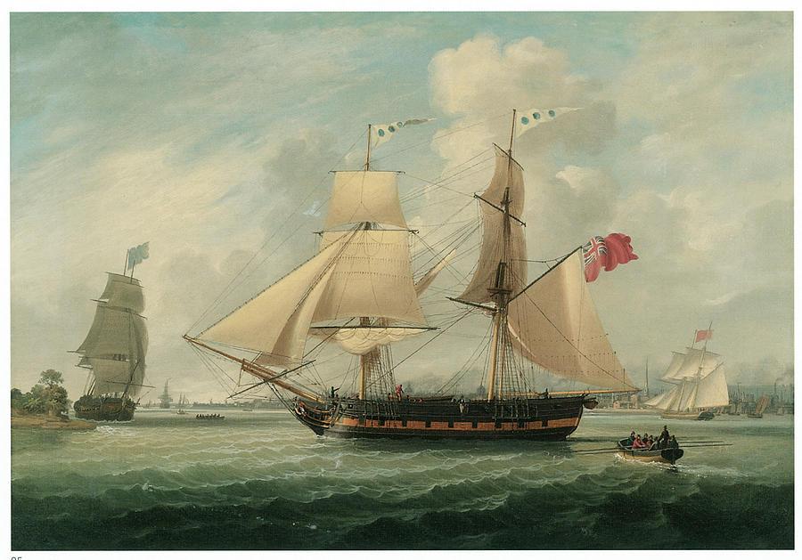 John Jenkinson Painting - A Brig Entering Liverpool by John Jenkinson