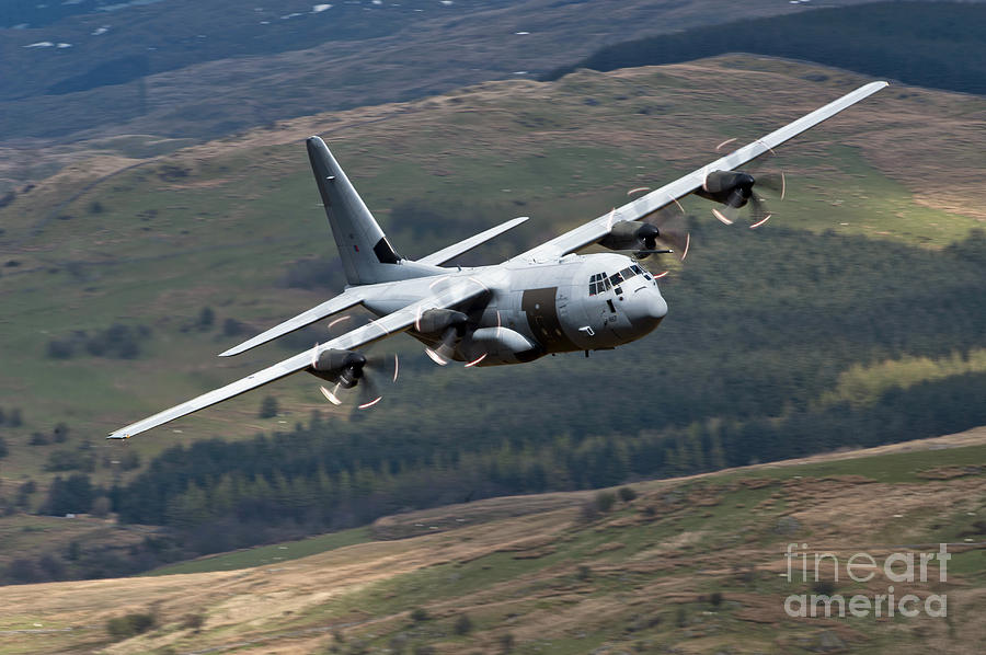 Royal Air Force Photograph - A C-130 Hercules Of The Royal Air Force by Andrew Chittock