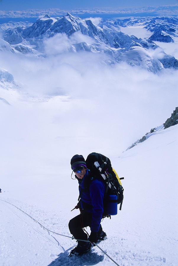 A Climber On The Descent Photograph