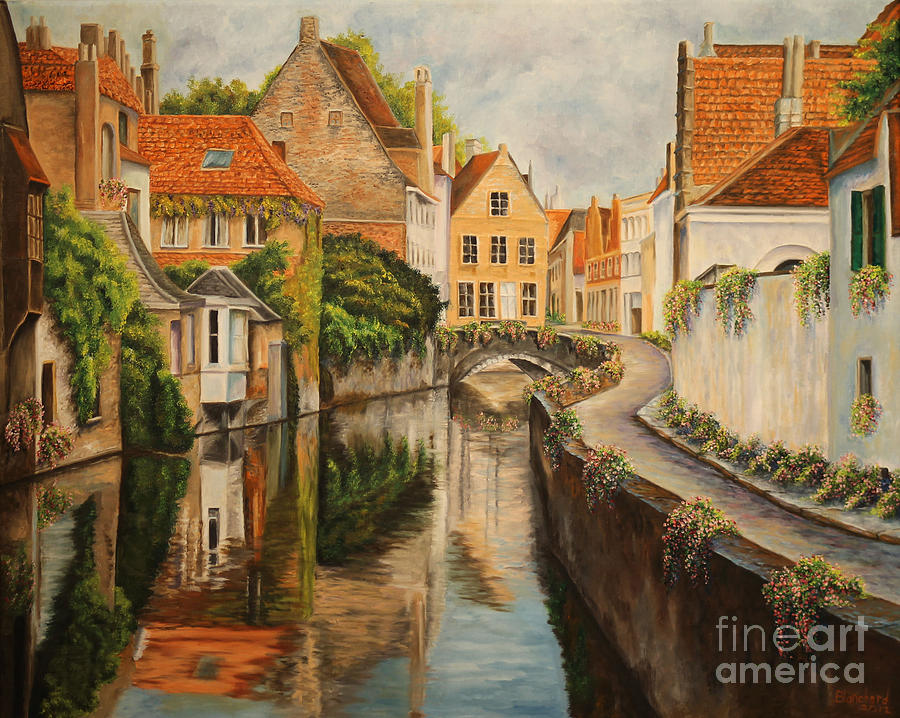 French Paintings Painting - A Day In Brugge by Charlotte Blanchard