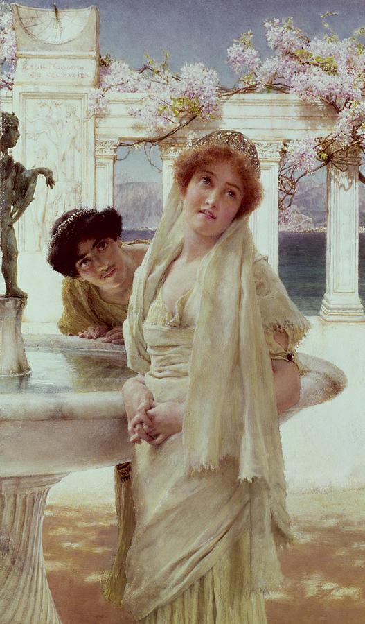 Difference Painting - A Difference Of Opinion by Sir Lawrence Alma-Tadema