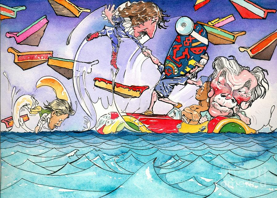Children's Book Illustration Painting - A Fatal Conceit Sample  by Robert  Myers