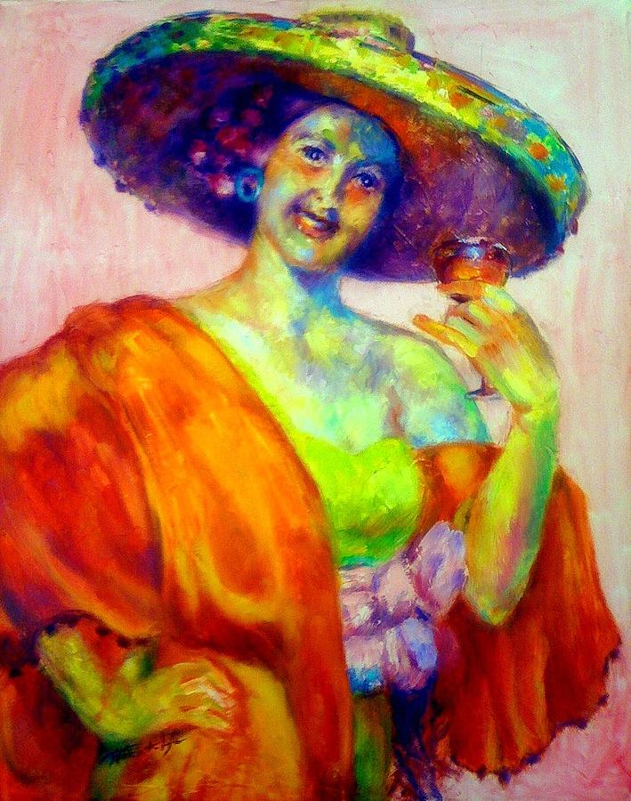 Figure Painting - A Festive Spirit by Patricia Lyle