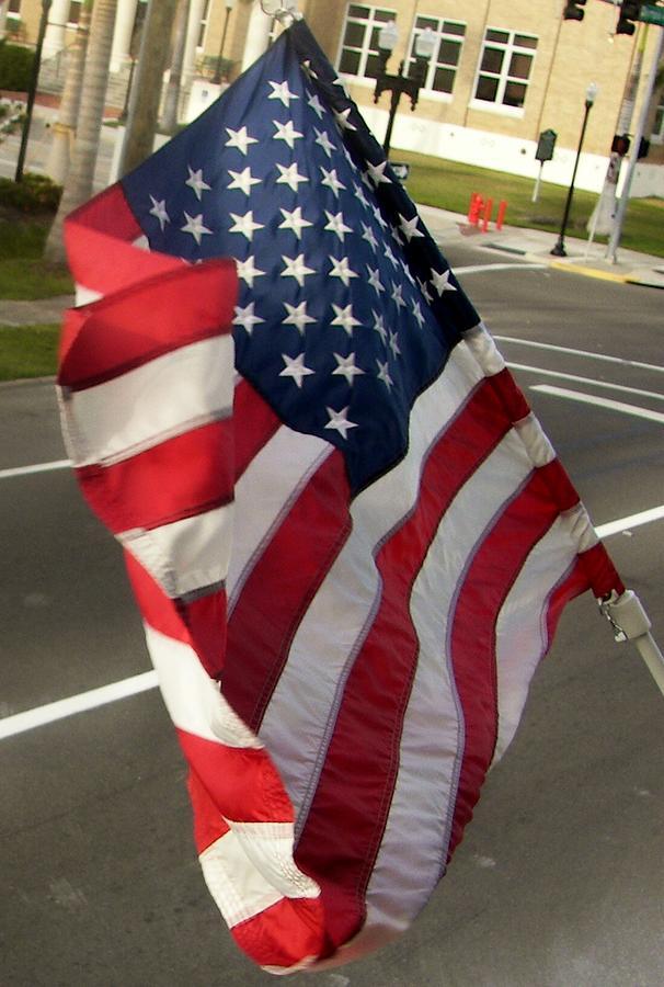 A Flag Flies Photograph