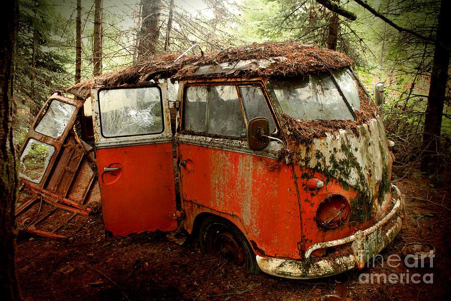 23 Photograph - A Forgotten 23 Window Vw Bus  by Michael David Sorensen