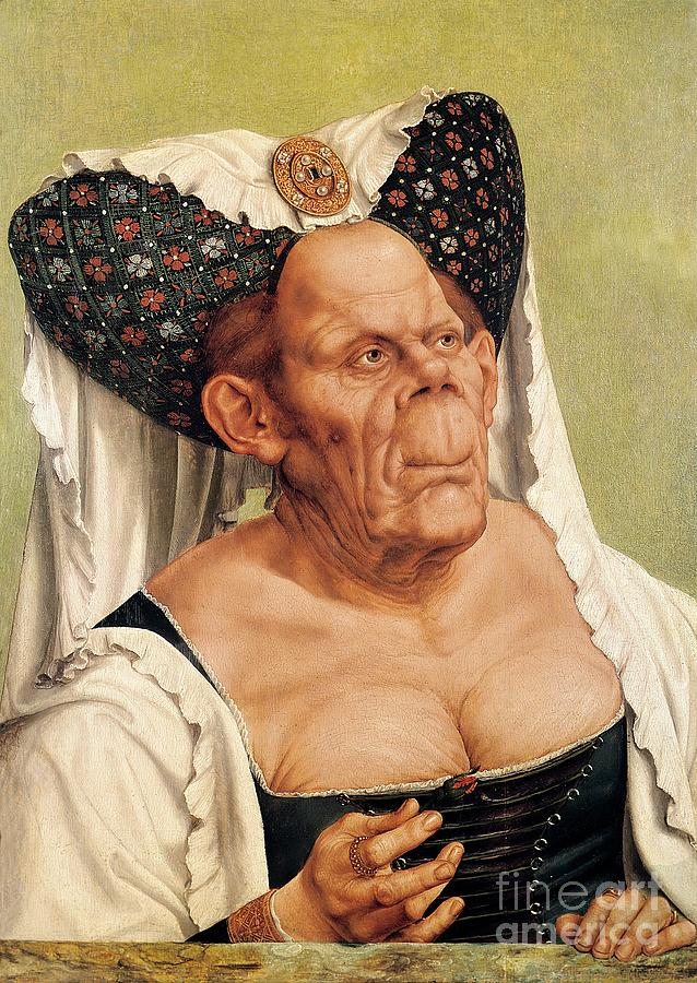 Grotesque Painting - A Grotesque Old Woman by Quentin Massys