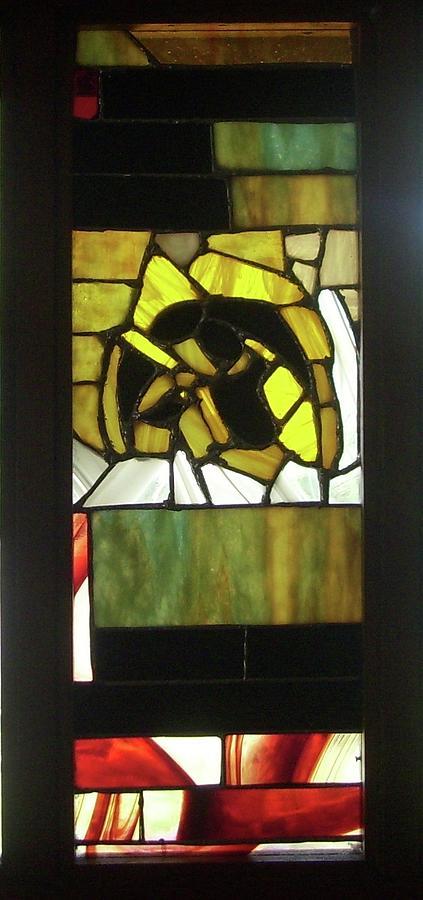 A Hawkeye Window Glass Art