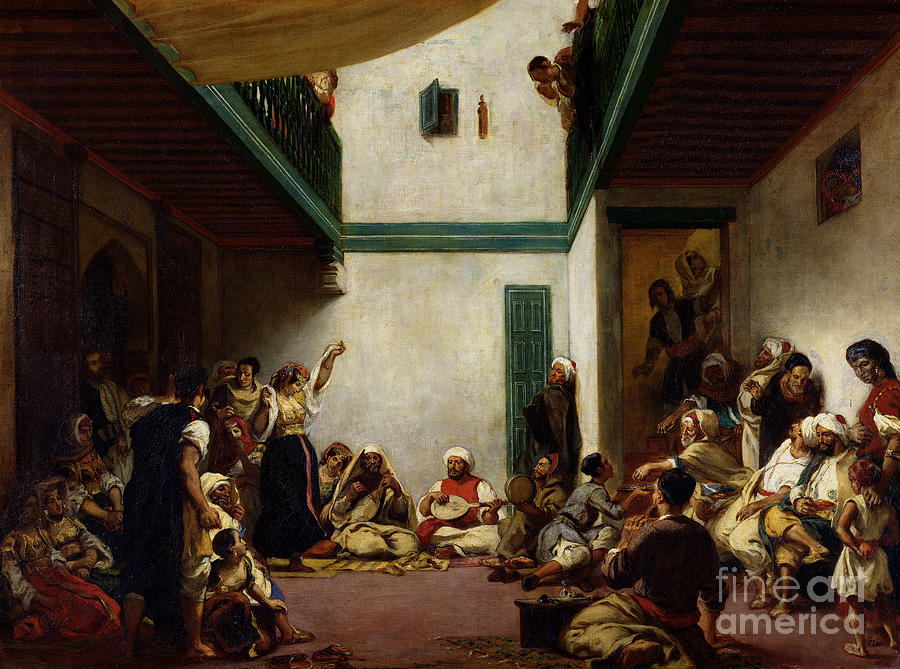 Jewish Painting - A Jewish Wedding In Morocco by Ferdinand Victor Eugene Delacroix