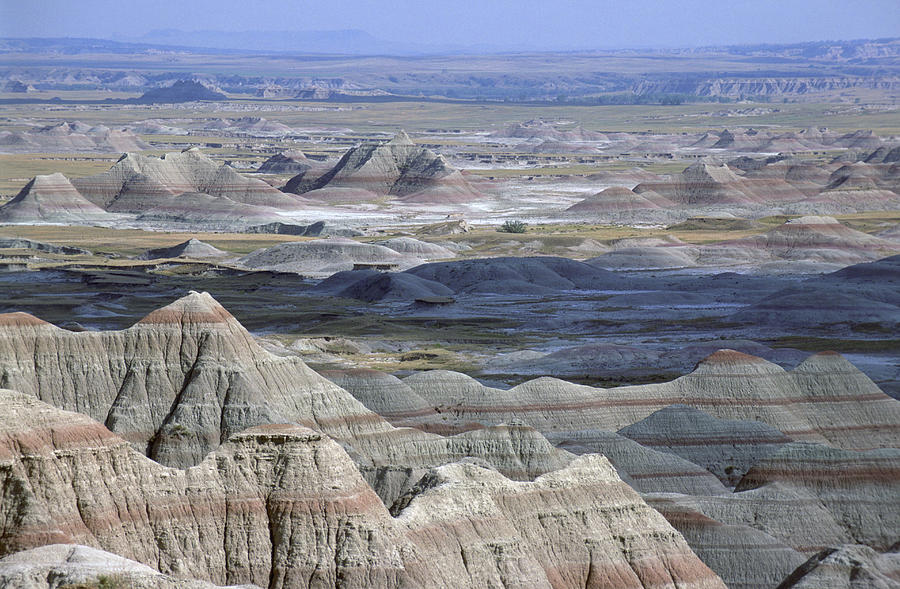 Photography Photograph - A Landscape Of The Badlands In South by Joel Sartore