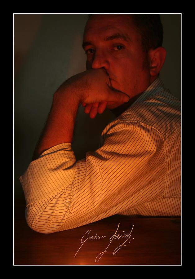 Graham Ettridge Self Portrait Photograph - A Late Night At The Office by Graham Ettridge