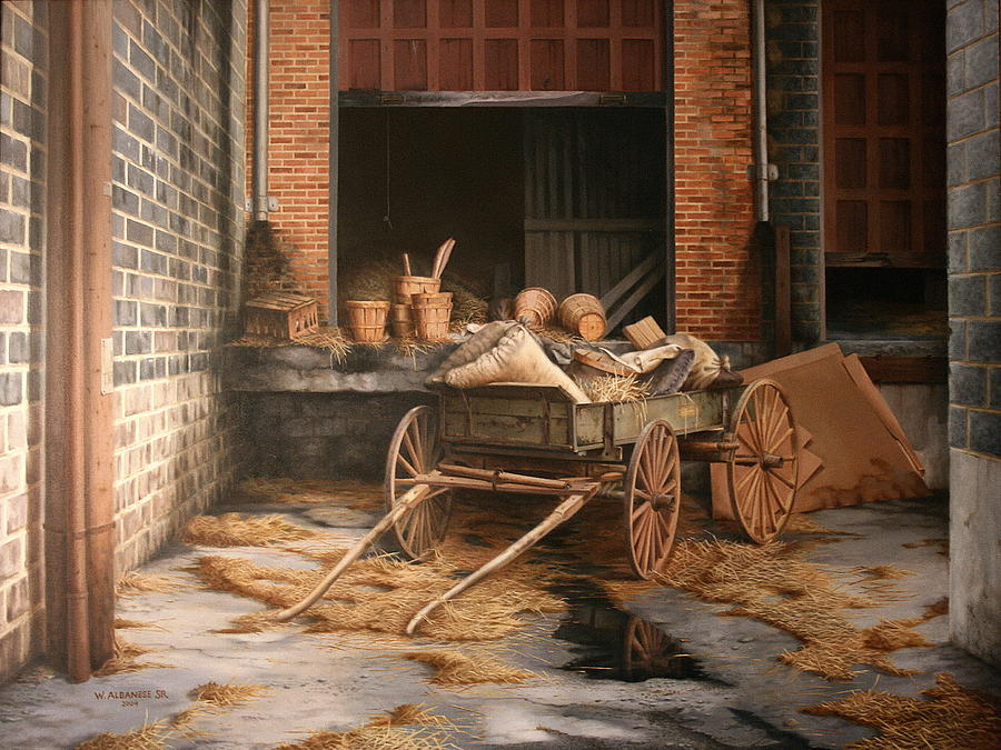 Wagon Painting - A Look At The Past by William Albanese Sr