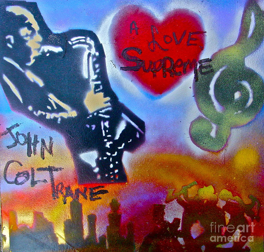 John Coltrane Painting - A Love Supreme by Tony B Conscious