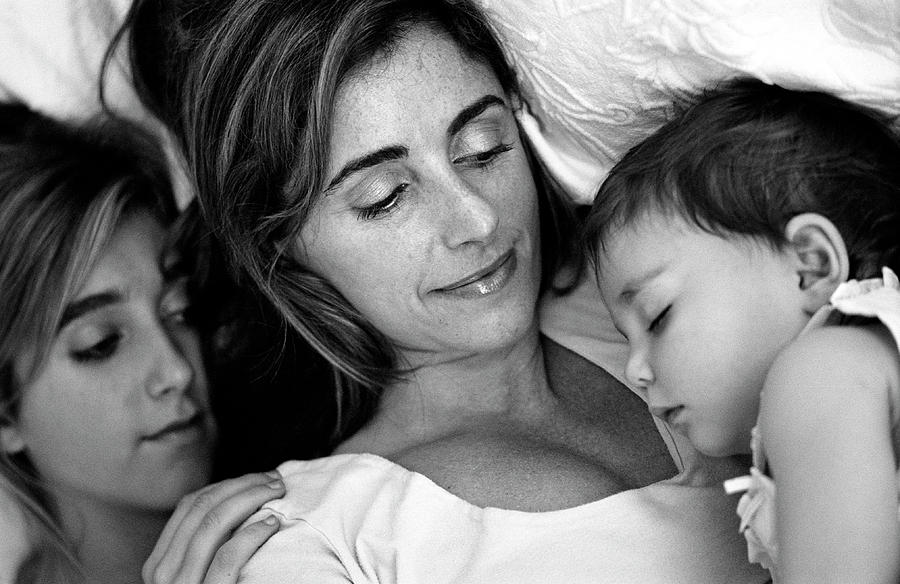 People Photograph - A Mothers Love by Kathy Yates