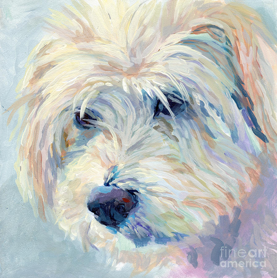 Mixed Breed Painting - A Natural Blonde by Kimberly Santini