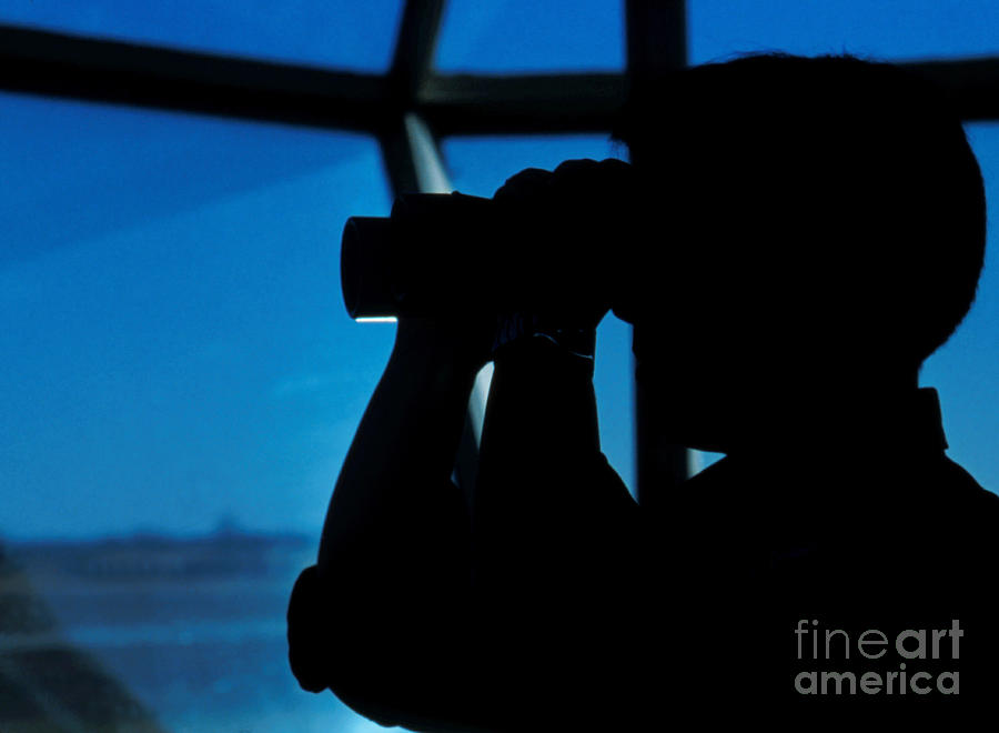 Air Station Photograph - A Navy Air Traffic Controller Maintains by Michael Wood