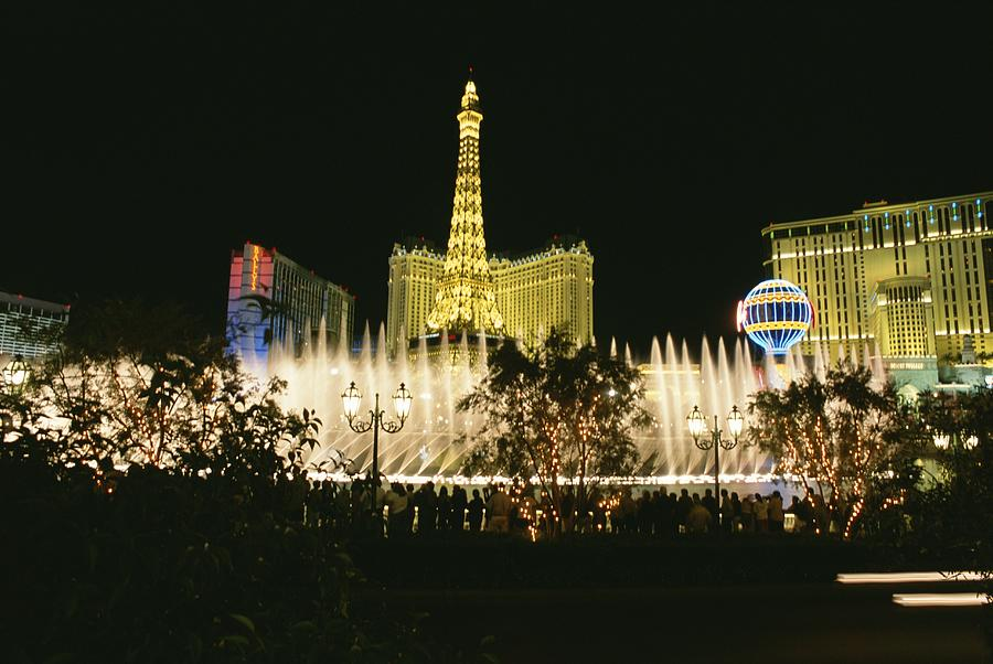 A Night View Of The Water And Light Photograph