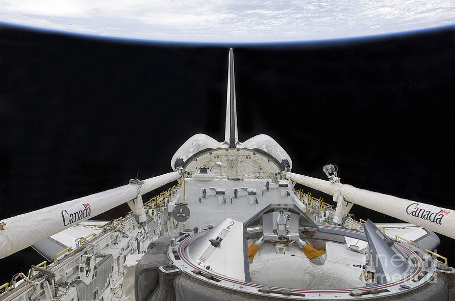 Sts-127 Photograph - A Partial View Of Space Shuttle by Stocktrek Images