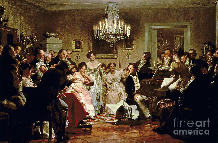 A Schubert Evening In A Vienna Salon Painting